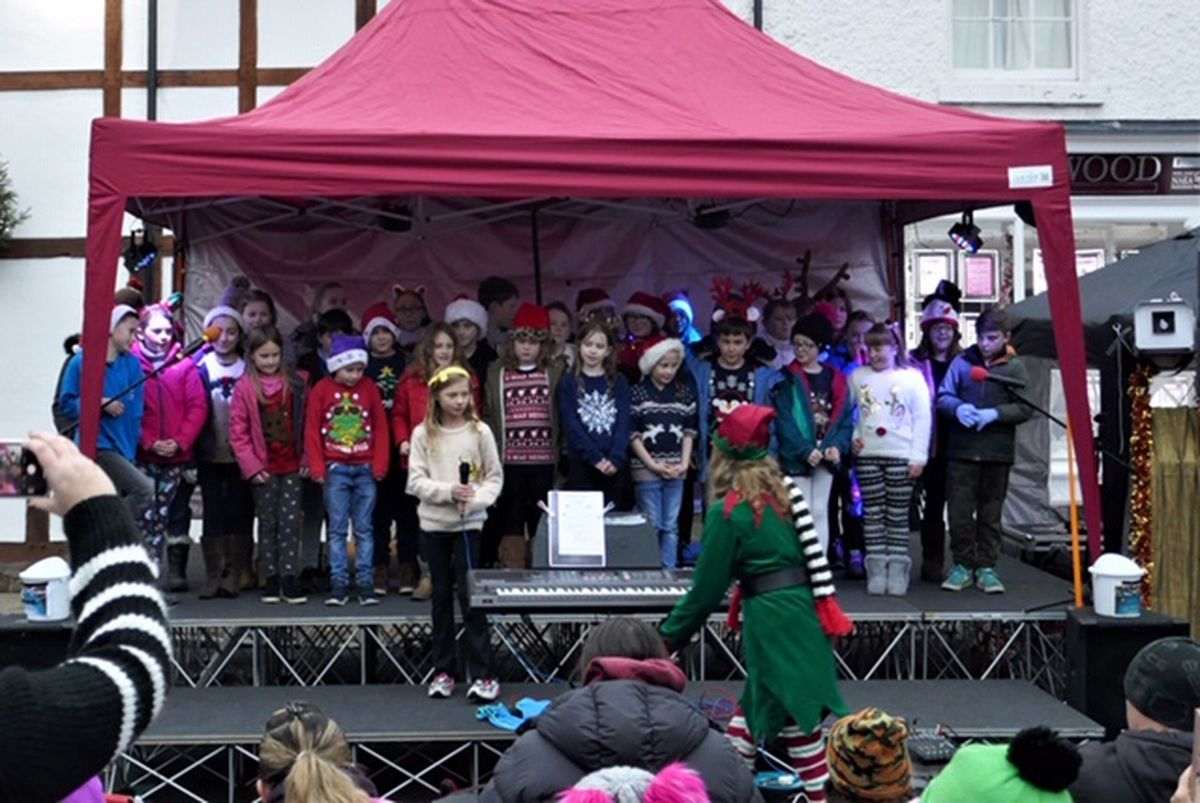 The switch-on in Church Stretton.