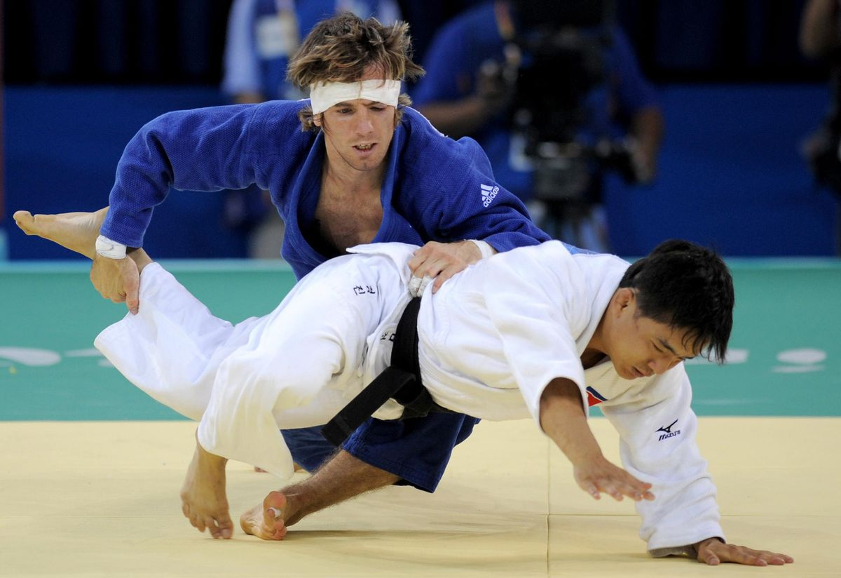 Mr Fallon in action at the Beijing Olympics in 2008