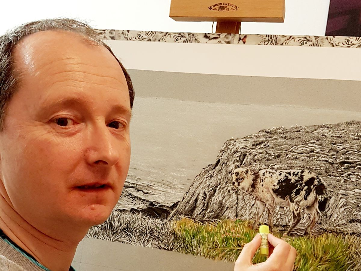 Paul Holmes at his easel