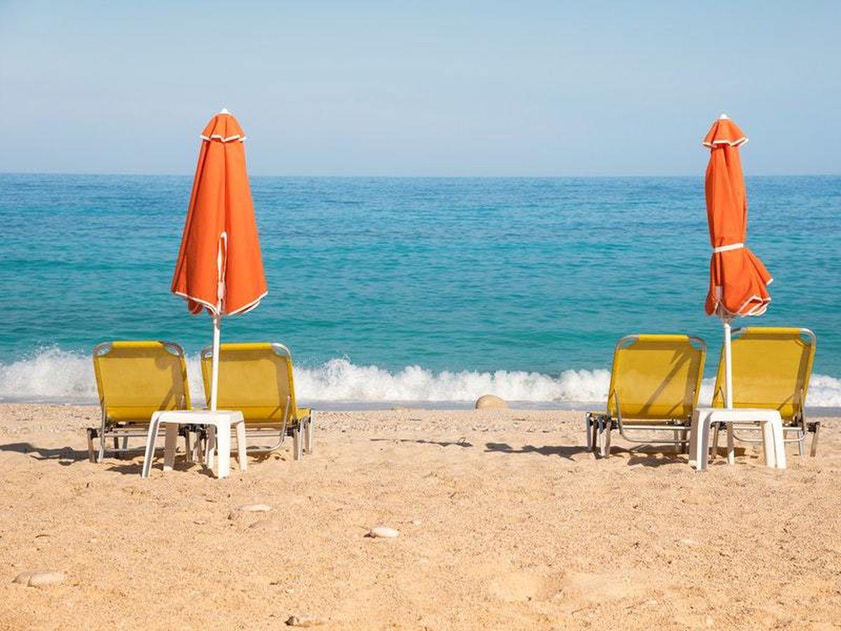 Sun loungers and umbrellas