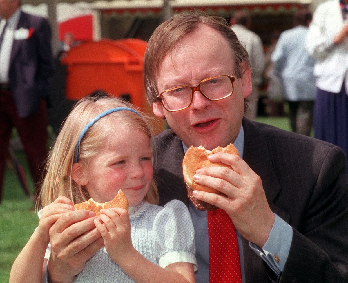 Then agriculture secretary John Gummer attempting to feed his daughter a beefburger was the enduring image of the beef wars