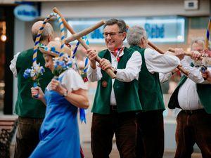 SHREWS COPYRIGHT SHROPSHIRE STAR JAMIE RICKETTS 13/01/2020 - Shrewsbury Morris Dancers are kicking off the new year!! ...