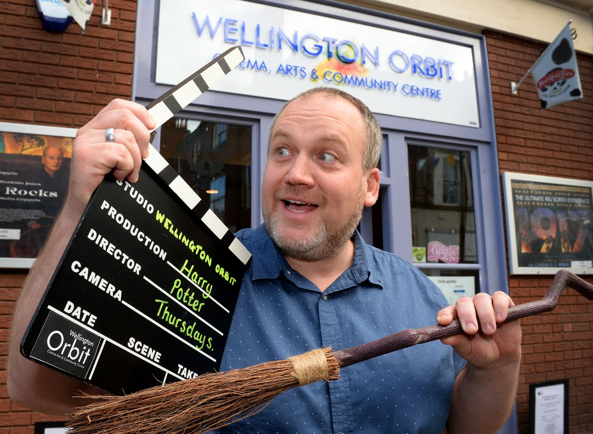 Wellington's Orbit Cinema manager Damian Breeze promotes its Harry Potter Thursdays