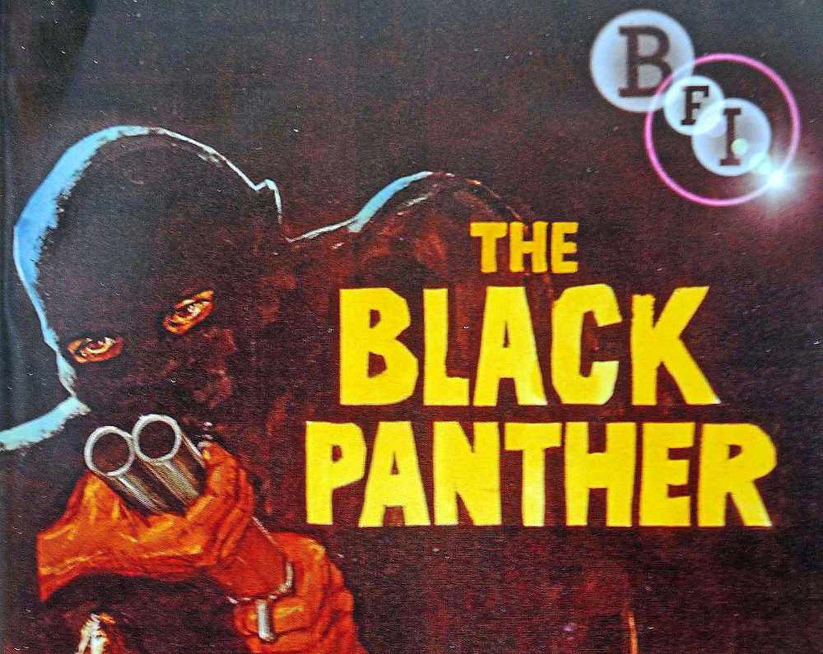 The cover of the Black Panther DVD, directed by Ian Merrick in 1977