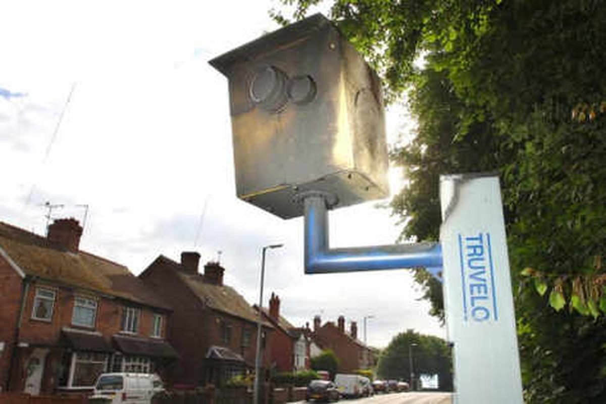 Telford speed camera set on fire