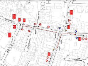 A map of the new one-way system in Church Stretton