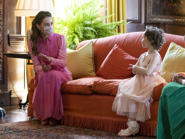 The Duchess of Cambridge and Mila Sneddon