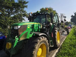 The tractor which was stopped. Photo: @OPUShropshire