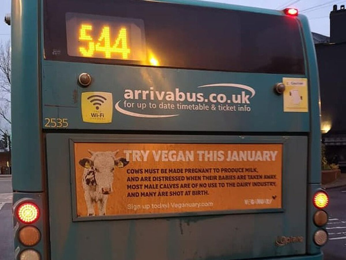 One of the 'Veganuary' adverts