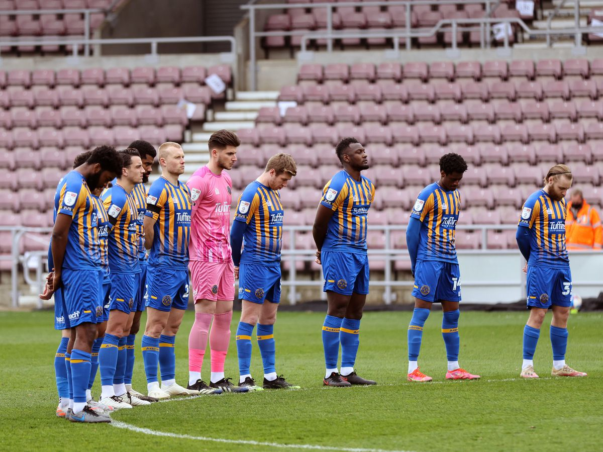 Shrewsbury Town remember former player Lee Collins. Photo: AMA