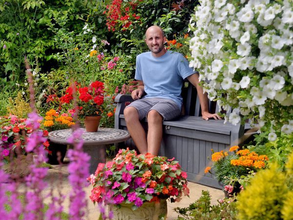Tom Pountney has opened his garden in Kynaston, Oswestry for the NGS