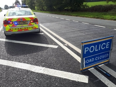 A483 near Oswestry closed for police reconstruction