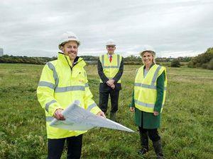 Managing director of Lovell Stuart Penn, Councillor David Wright and Kate Callis