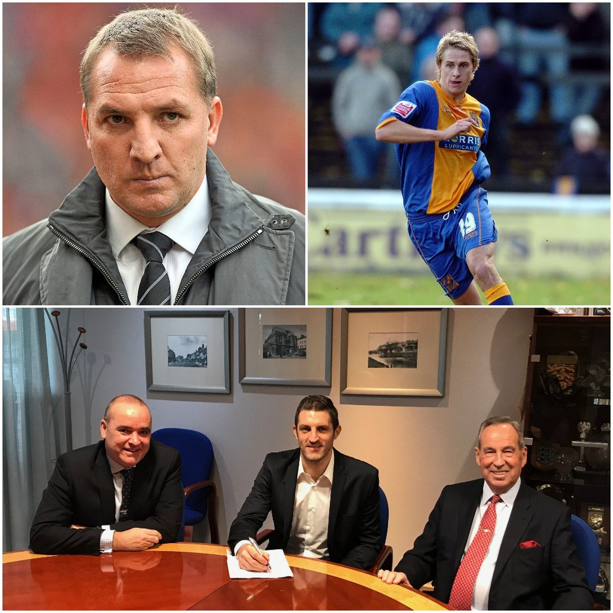 Celtic chief Brendan Rodgers, left, and Town favourite Dave Edwards