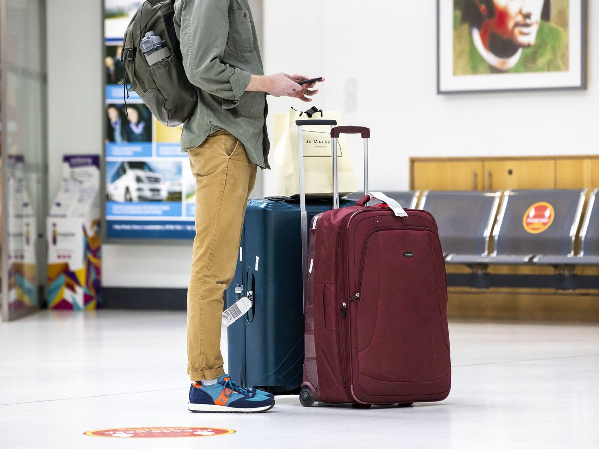 File picture of person at airport