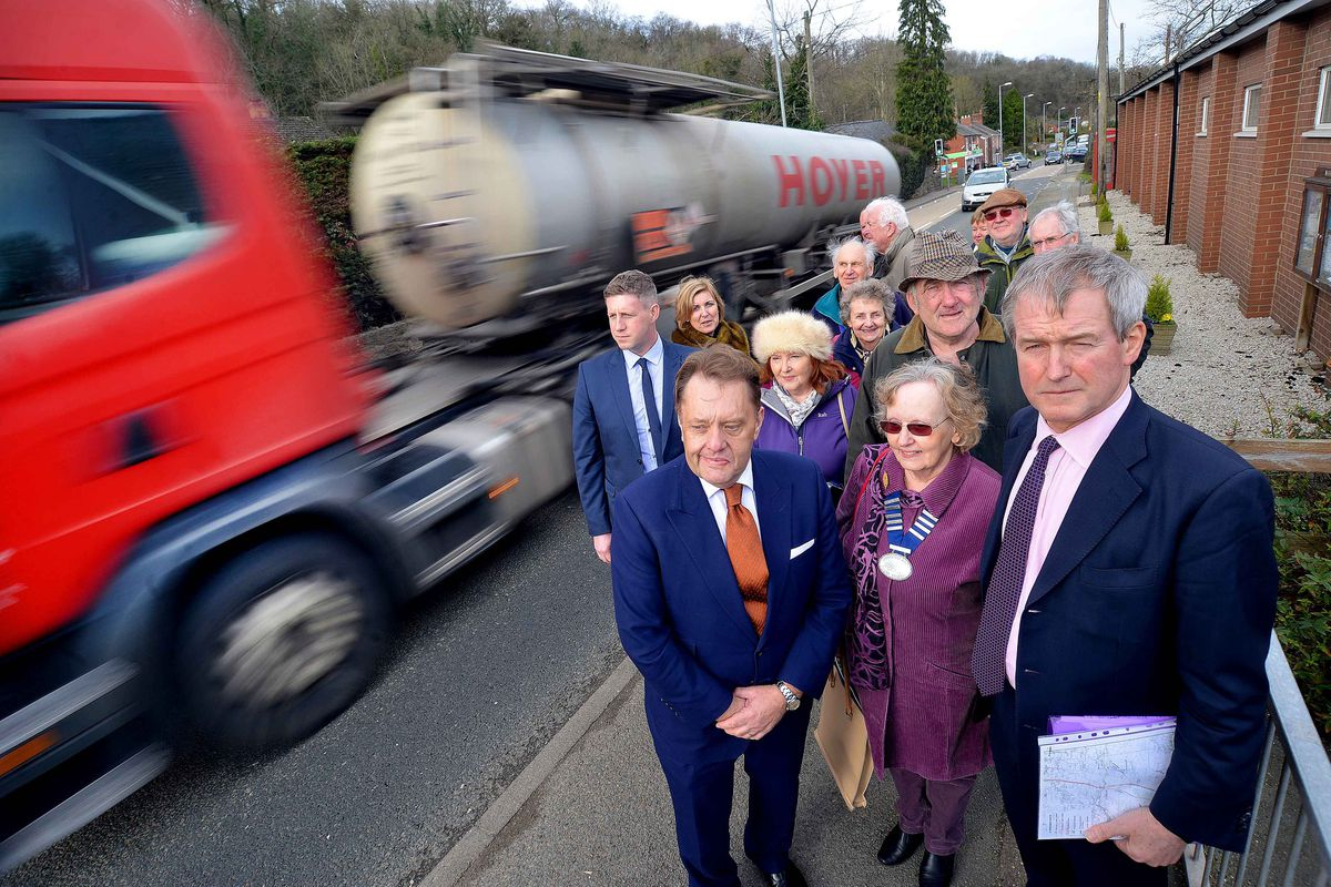 Transport Minister: John Hayes with Dilys Gaskill and Owen Paterson.