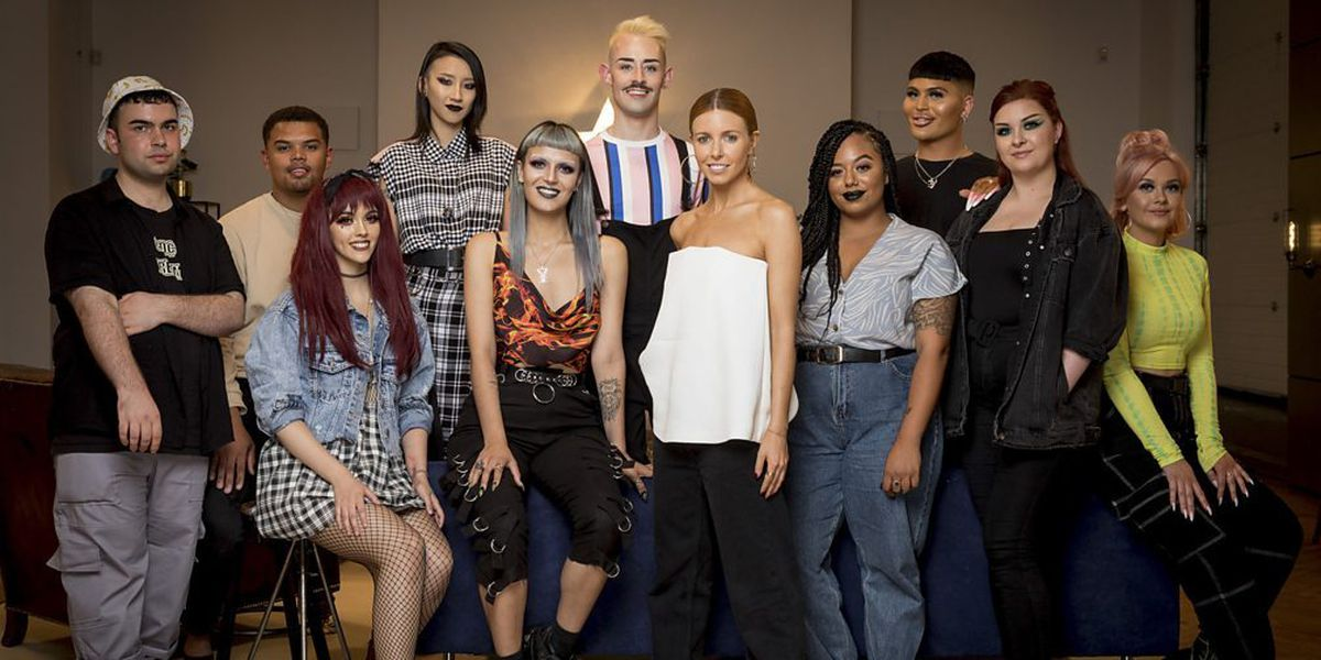 Ophelia with Stacey Dooley and the other contestants