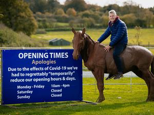 Clive Knowles with the British Ironwork Centre's revised opening times