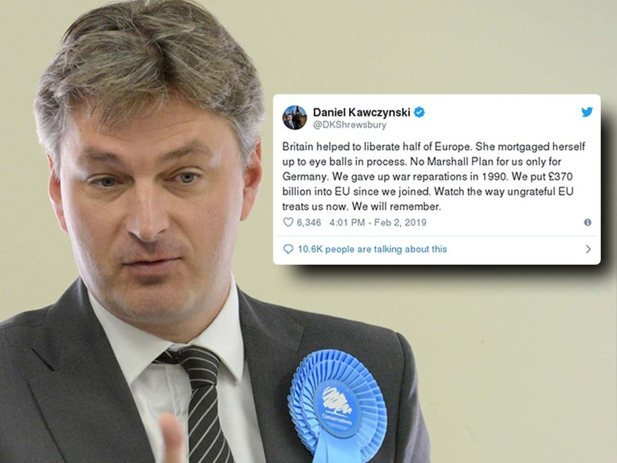 Daniel Kawczynski received thousands of responses to his tweet about the Marshall Plan