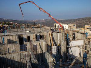 Settler homes under construction