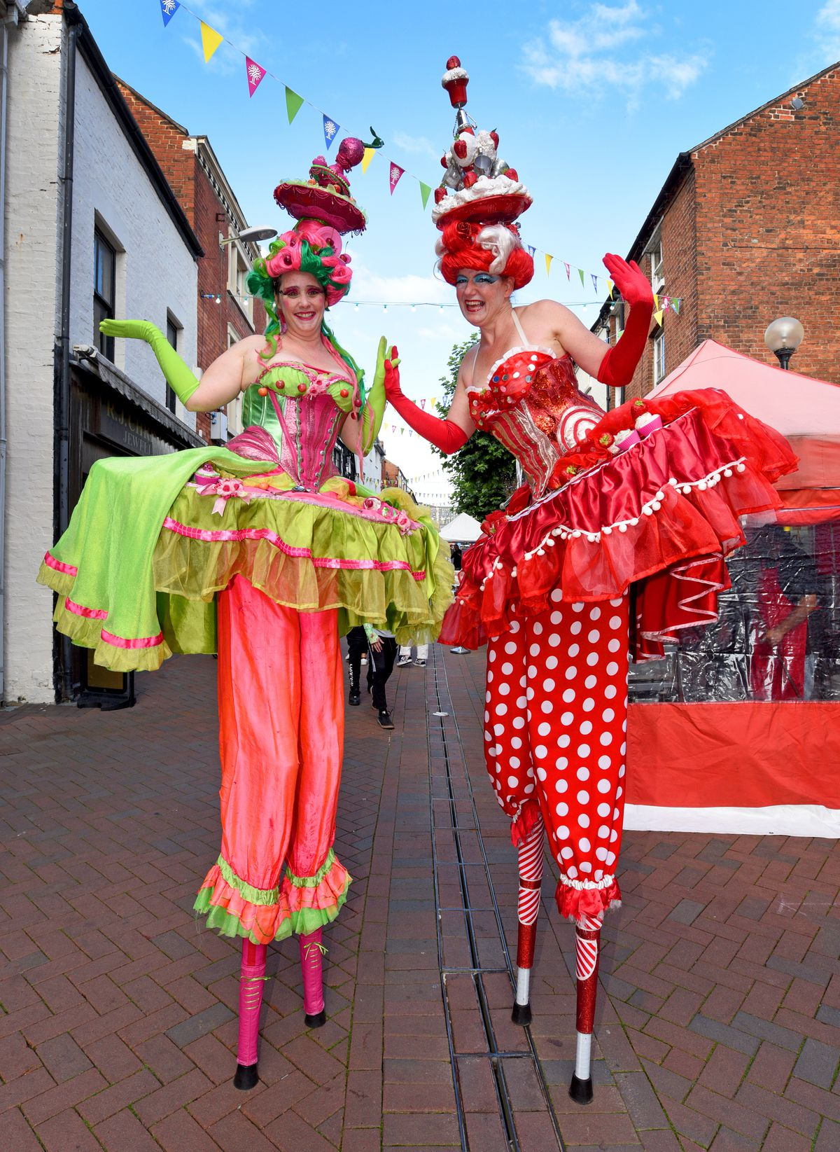 The Cake Ladies from Circus Antics entertained the crowds