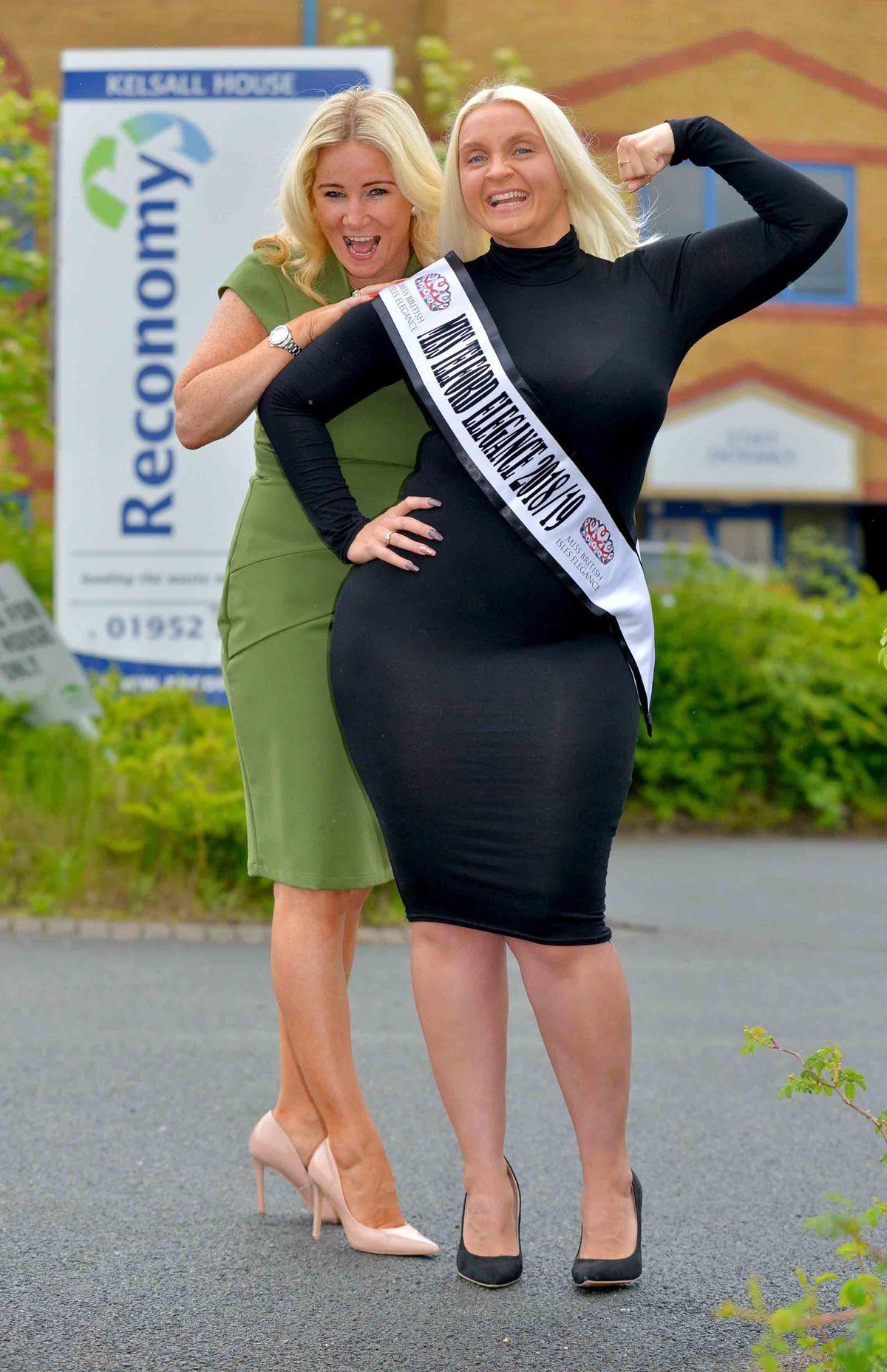 Miss Telford Elegance Georgina Powell heads for the Miss British Isles final with Faith Mackey
