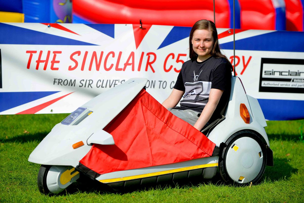 The Sinclair C5 and Vicky Rigby from Nottingham
