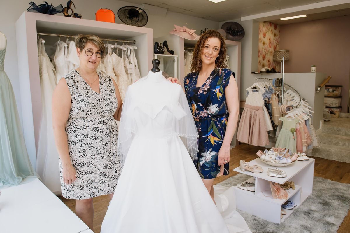 CiCi's Happy Ever After is a new wedding boutique shop opening in Queen Street, Market Drayton. In Picture: Carla Taylor and Lynsey Sayers