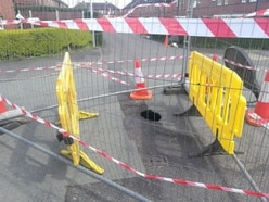 Telford road to be closed for a week after sinkhole opens up