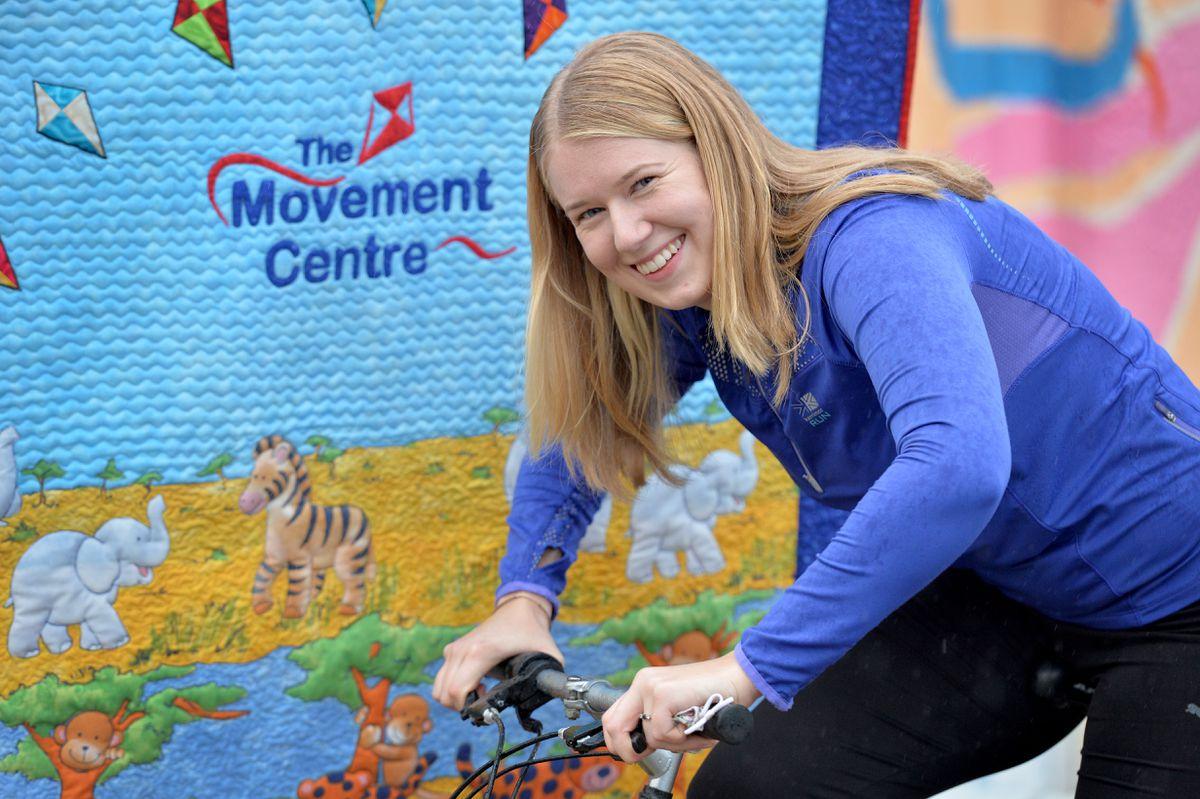 Sam Dorricott gets set for her challenge