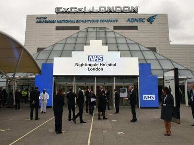 First patients fill beds at new Nightingale Hospital in London