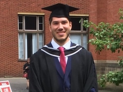 Worcester Warriors lock Andrew Kitchener graduates with a first-class degree in economics