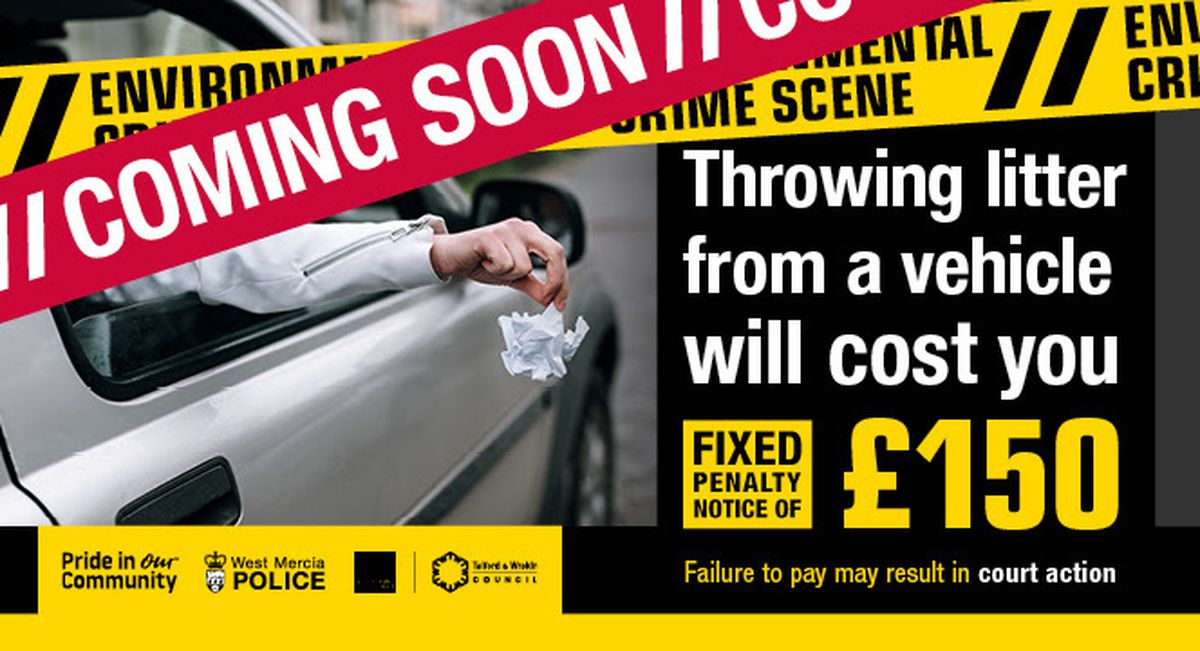 People who litter from a vehicle will be fined £150