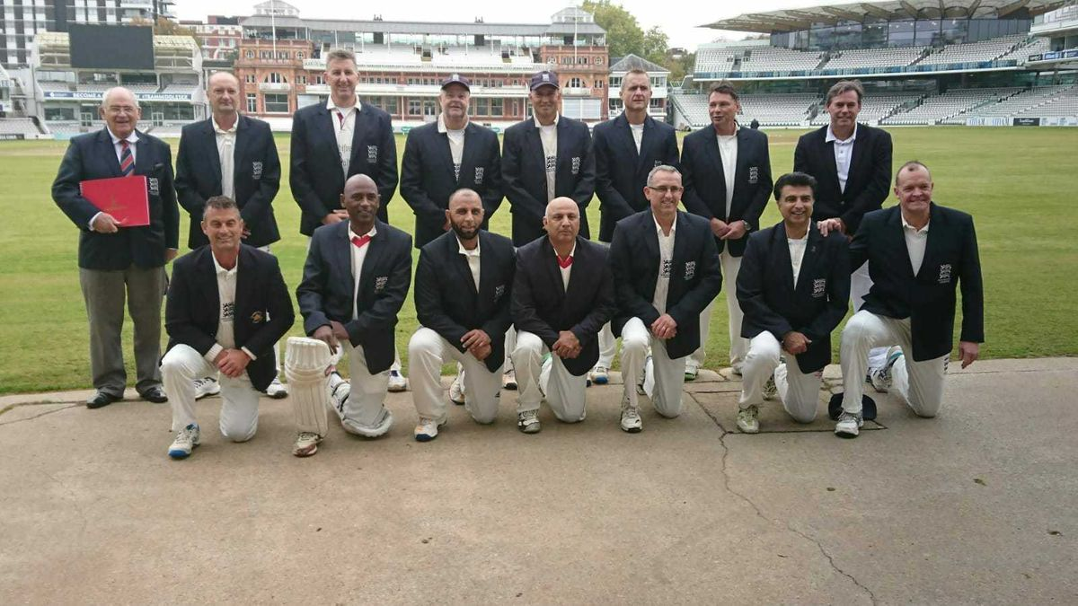 England squad including Calvin, back row third from left.