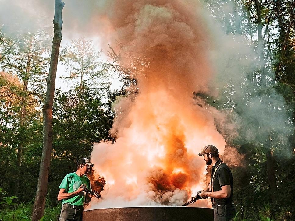 Charcoal-making fuels imagination at Ironbridge festival
