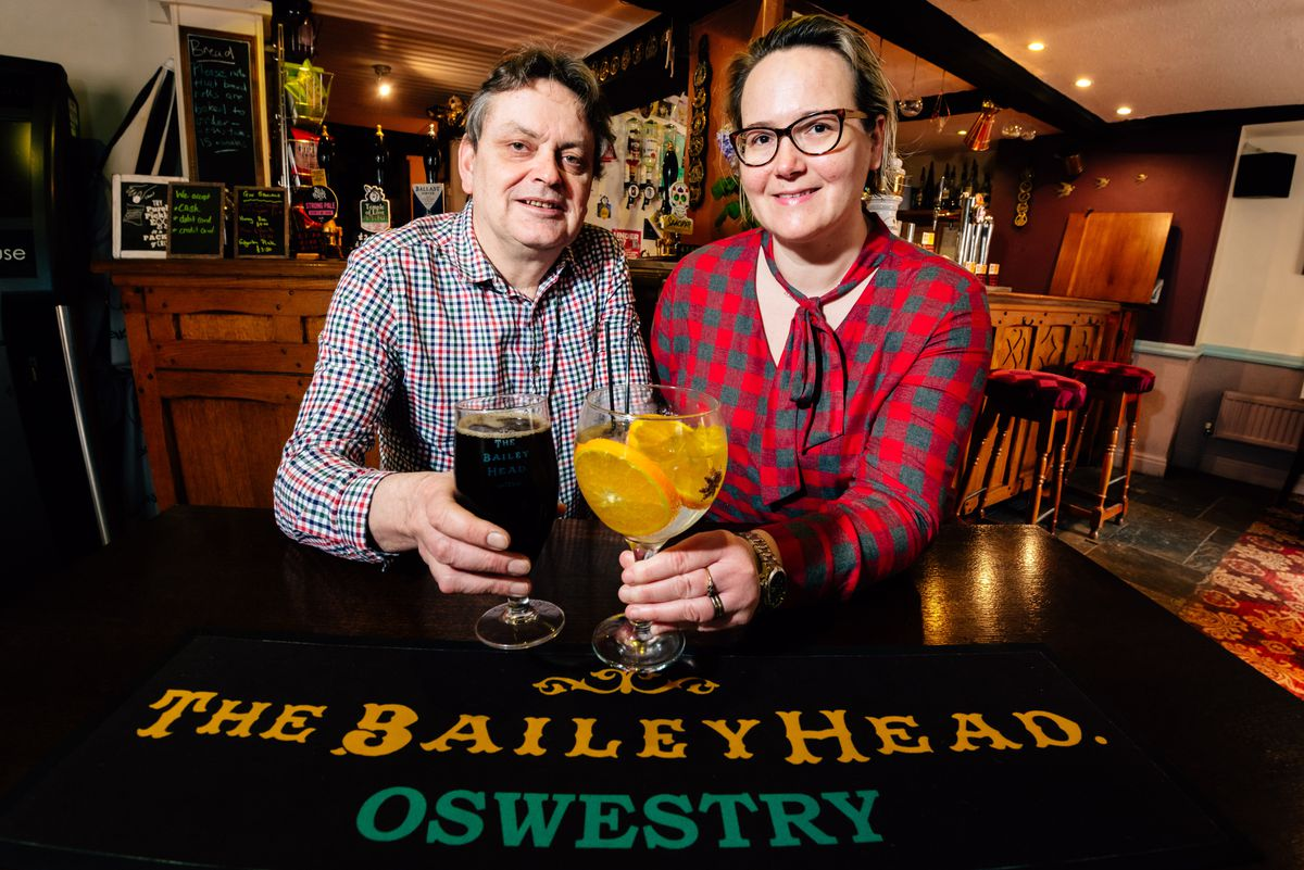 Duncan Borrowman and Grace Goodland from the Bailey Head in Oswestry