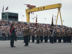 Royal Irish receive colours in first of its kind event in Belfast