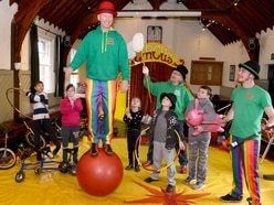 WATCH: Kids roll up for circus skills fun