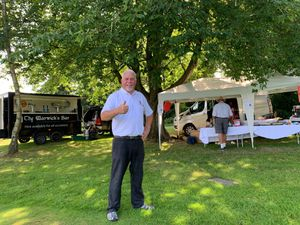 Mike Corfield thanked his fellow golfers for their generosity