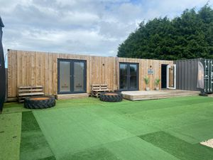 The shipping container-based annexe at The Body Barn, Church Aston. Photo: The Body Barn Ltd / Telford and Wrekin Council