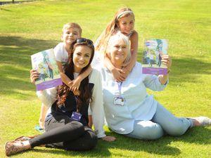 Rachael Davies with mother Amanda Davies and children Vinnie and Ava