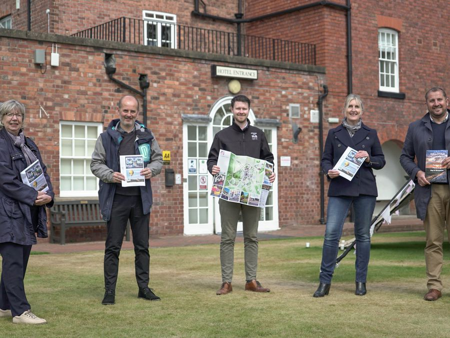 From left: Lee Lucks - Oswestry Borderland Tourism, James Woodward - Wynnstay Hotel, Mark Hooper - While We Visit, Adele Nightingale - Oswestry BID, Sebastiano Siddi - Wynnstay Hotel
