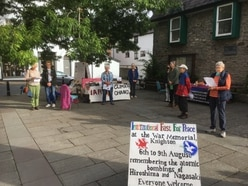 Activists gather at Knighton memorial to mark Hiroshima Day