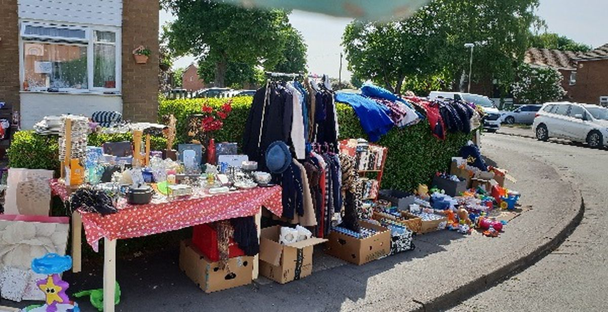 The stall, which has expanded massively as neighbours have donated items