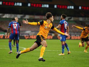 Rayan Ait-Nouri of Wolverhampton Wanderers celebrates after scoring a goal to make it 1-0 (AMA)