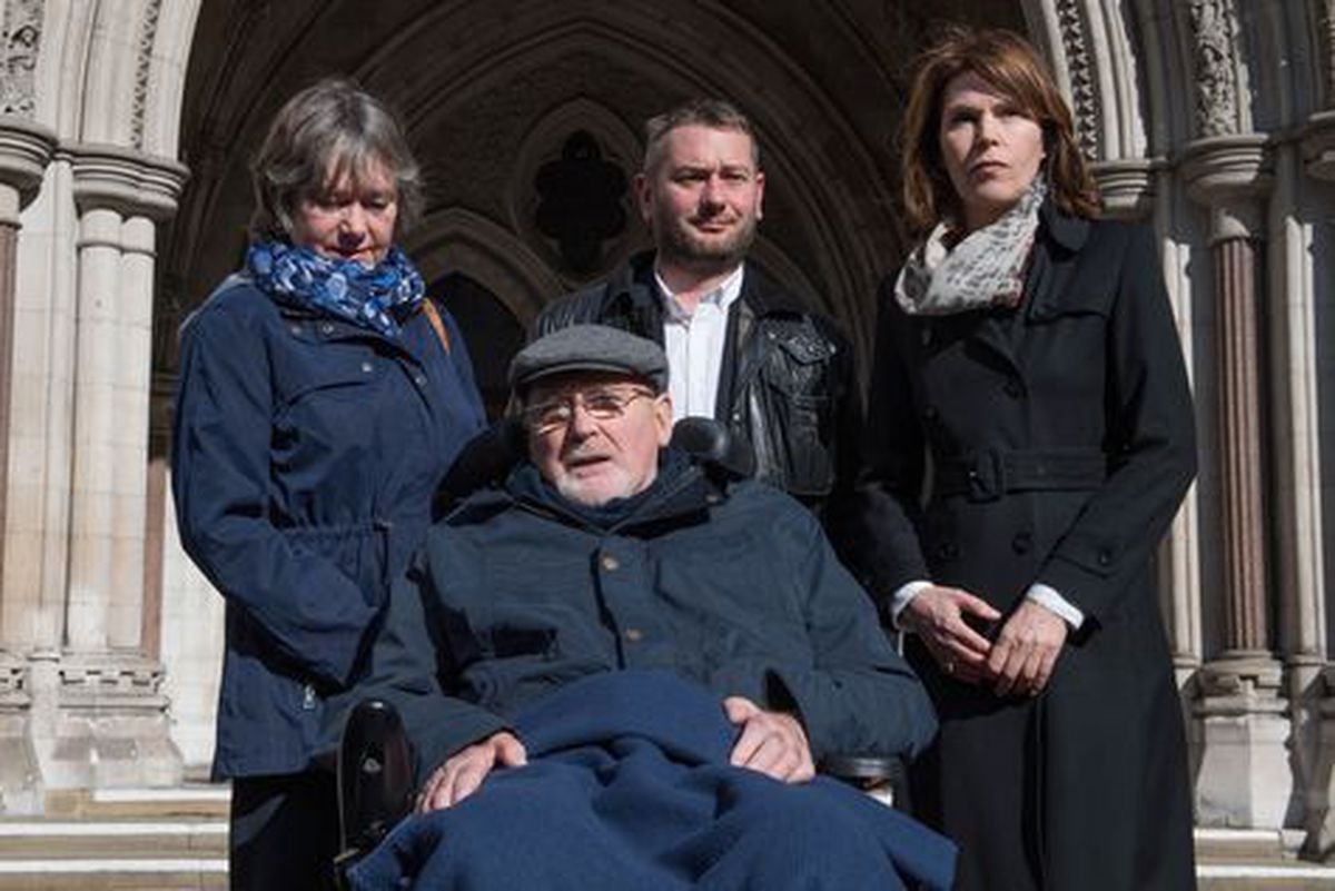 Noel Conway and family outside court