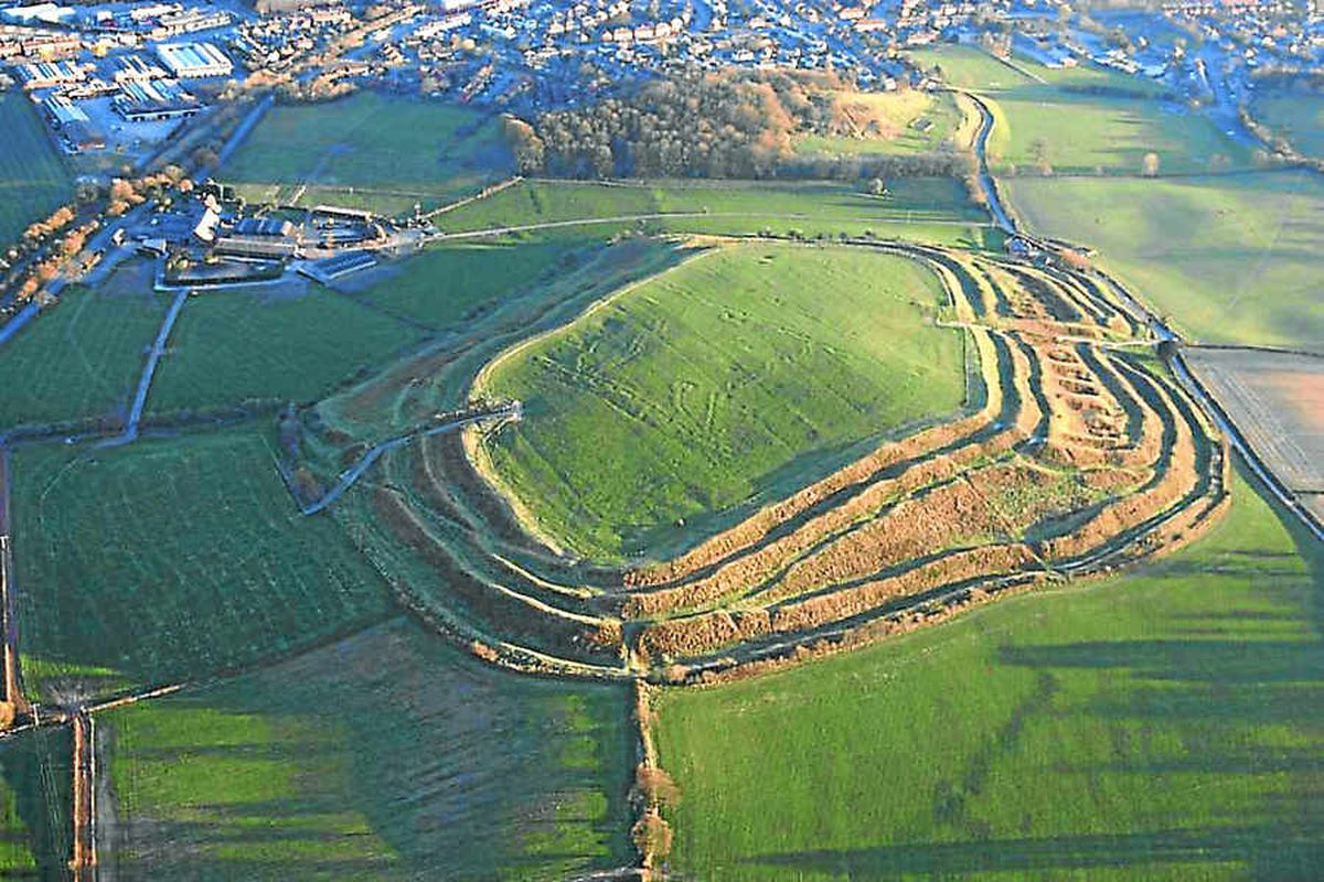 The distinctive outline of the Iron Age hillfort. Thousands of people have objected to plans for development in the area.