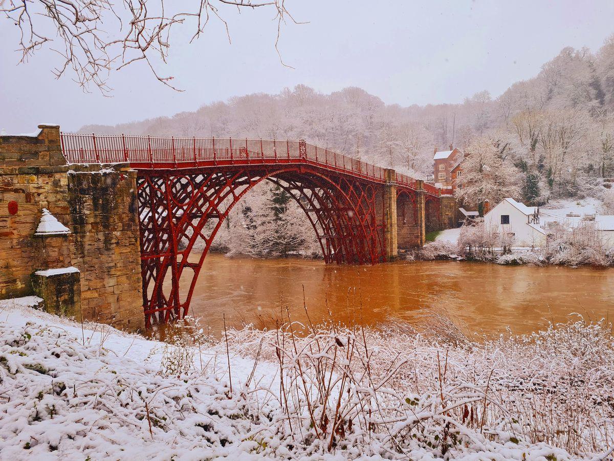 Snow in Ironbridge. Photo: Paul Humphries