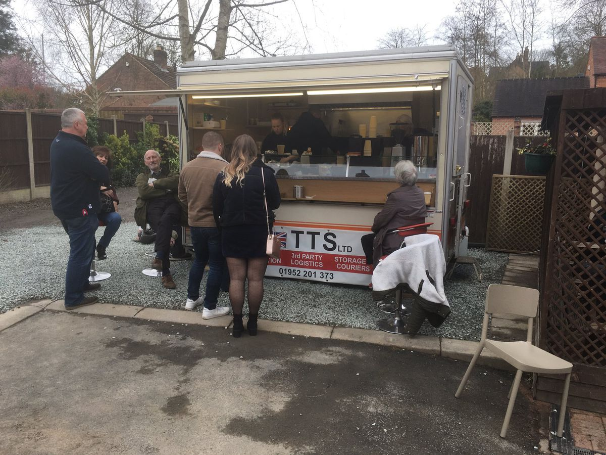 The 'butty wagon' outside the Dale End Café