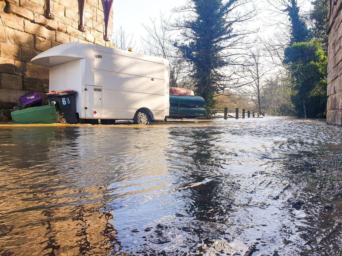 Flooding in Ironbridge. Photo: Mat Growcott.